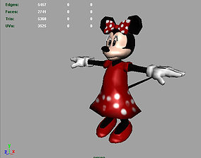 3D model Minnie Mouse AAA