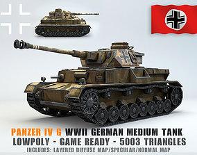 Low Poly Panzer IV G medium tank 3D asset