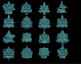 16 fractal forms 3D print model part2