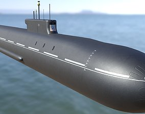 3D asset Ballistic Submarine class BOREI-II
