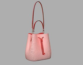 Louis Vuitton Neonoe MM Bag Epi Leather Rose Ballerine 3D