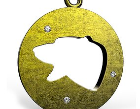 3D print model Bear Flat Pendant design