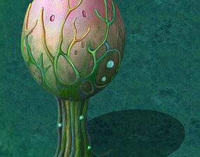 Cartoon version - fine stripe spores 3D model