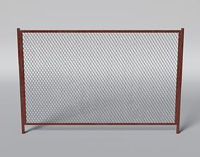 3D asset low-poly Rabitz Fence