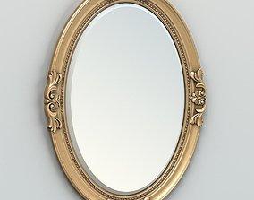 3D model Oval mirror frame 003