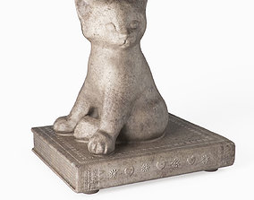 3D Statuette Cat on the book