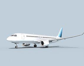 Bombardier CS100 Corporate 2 3D model