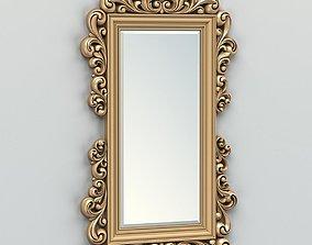 3D model Rectangle mirror frame 011