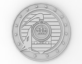 National Railway Badge Crest 3D print model