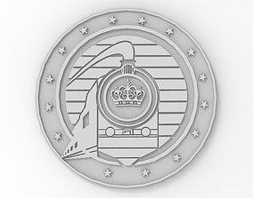 National Railway Badge Crest 3D print model