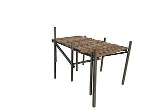 3D asset Wood Pier