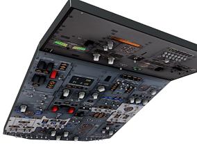Boeing 737 Overhead Panel 3D model