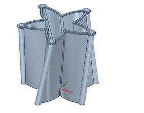 vase cup vessel fr-v08 for 3d-print or cnc