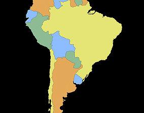 3D model South America Map