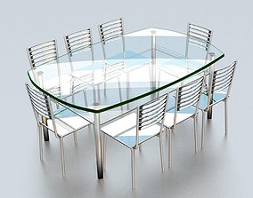3D printable model glass table