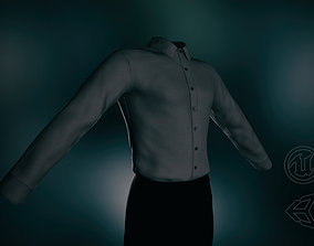 Black Suit Shirt 3D model low-poly