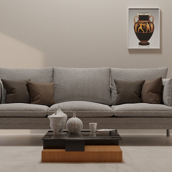 High quality realistic interior designer mode modeled in blender and rendered in cycles