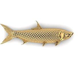 3D printable model rhino Fish pendant