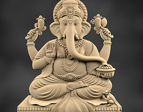 Ganesha 3D printable model sculptures