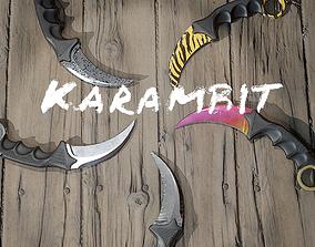 Karambit combat knife 3D asset