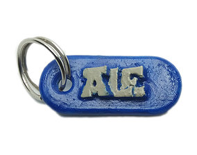 3D print model ALE Personalized keychain embossed letters