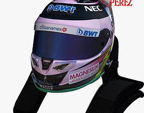 Perez helmet 2017 3D asset