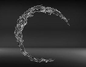 Water splash bath 3D model