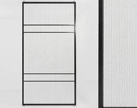 Glass partition door 66 3D asset