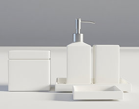 3D Bathroom Set White 1