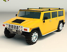 Low Poly SUV 04 3D model