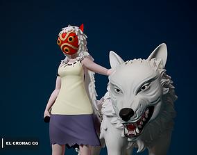 3D print model San - Princess Mononoke