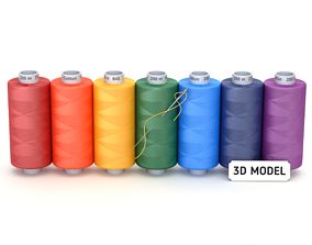 Sewing Thread Set 3D