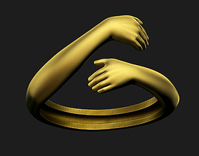 3D printable model Hug Ring love