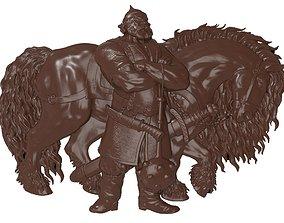 3D print model Ilya Murometz and his combat horse bas 2