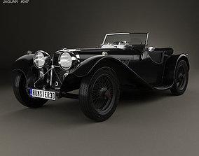3D model SS Jaguar 100 1936