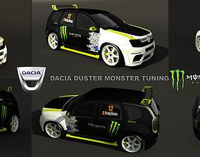 Dacia Duster monster tuning 3D model VR / AR ready