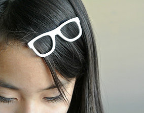 3D print model Glasses shaped hair clip
