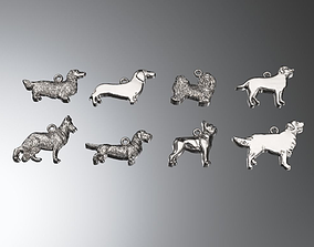 3D print model dog Dog charms pack