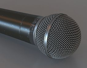 Microphone vocal 3D model