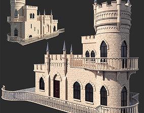 3D model Castle swallow