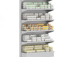 Market Shelf - Eggs 3D