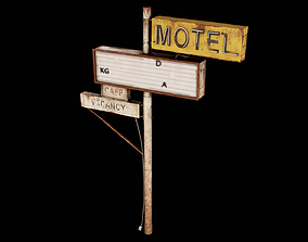 3D asset Post Apocalyptic Abandoned Sign 22 - PAS - PBR 1