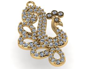 bird gold jewelry 3D print model