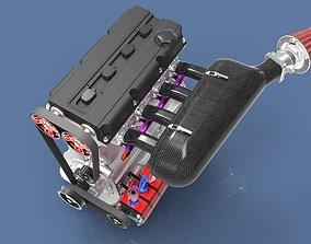 3D model Race engine Super 2000 Rally
