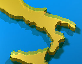 geographic 3D model Italy shape