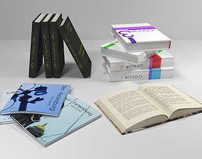 3D Set of books
