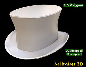 Top Hat 3D asset low-poly