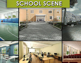 3D model realtime School Scene