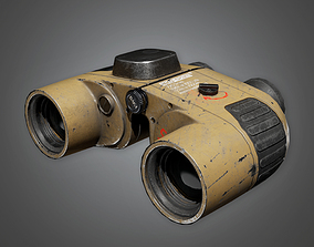 Military Bionics Binoculars Viewer - MLT - PBR 3D model 1