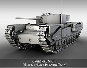 Churchill Infantry Tank MK III 3D model